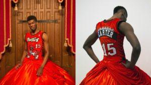 La artista que viste a jugadores de baloncesto con trajes de gala