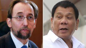 """El Alto comisionado de la ONU para los Derechos Humanos afirmó que Rodrigo Duterte """"necesita una evaluación psiquiátrica"""""""