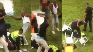 Violencia extrema en el fútbol africano: Una mujer de seguridad quedó inconsciente y lucha por su vida