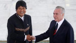 América Latina: Michel Temer y Evo Morales crearon un grupo de trabajo para avanzar en el corredor ferroviario que unirá Brasil y Bolivia