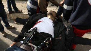 Un terrorista palestino apuñaló a un oficial israelí durante una violenta protesta en la ciudad cisjordana de Ramallah